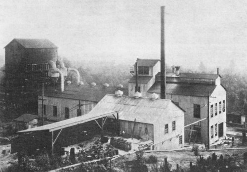 Briquetville occupied 20 acres east of the Shuffleton steam plant
