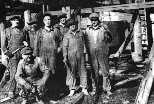 Dirty job: Franklin miners, ca. 1915.